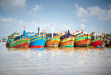 Colorful Fishing Boats Berthed...