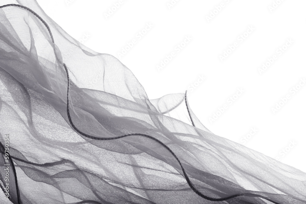 Fotografie, Obraz  soft chiffon with curve and wave