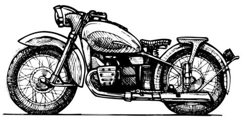 Obraz na Szklemotorcycle.