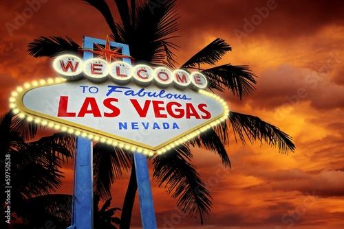 Leinwand Poster  Willkommen in Vegas