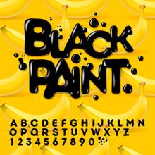 Black Oil Painted Alphabet, Ve...