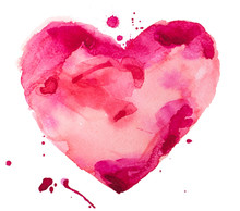 Watercolor Heart. Concept - Lo...
