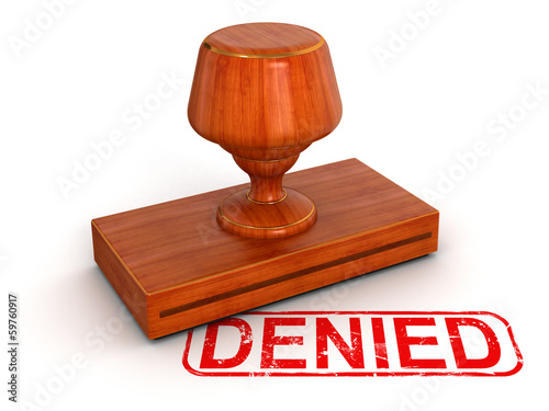 Fotografía  Rubber Stamp Denied (clipping path included)