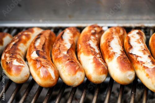 Photo sur Toile Grill, Barbecue Bratwurst, Grillwürstchen