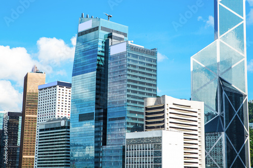 Commercial Buildings in Hong Kong Canvas-taulu