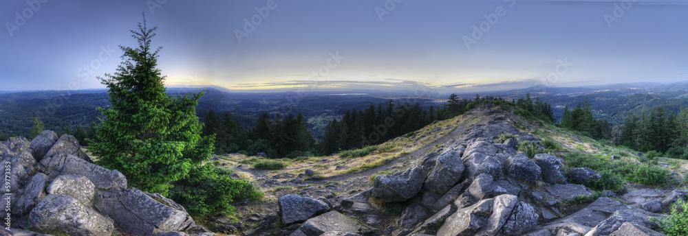 Fototapety, obrazy: HDR Panorama of Mount Pisgah