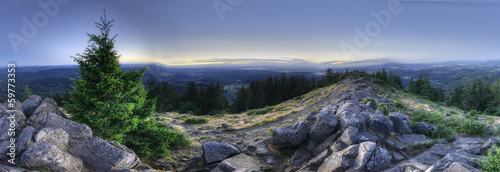 HDR Panorama of Mount Pisgah Wallpaper Mural