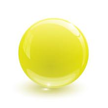 Yellow Glassy Ball