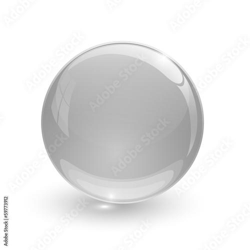 Staande foto Bol Grey glassy ball