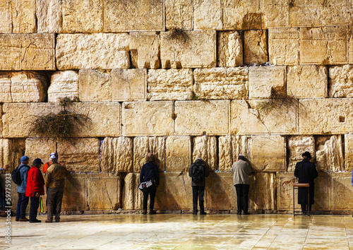 Fotobehang Midden Oosten The Western Wall in Jerusalem, Israel in the night