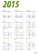 Kalender 2015 grün Hochkant