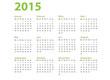 Kalender 2015 grün