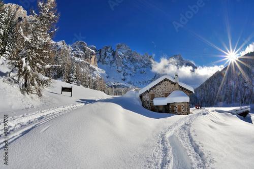 Fotografie, Obraz  Dolomiti, Pale di San Martino - Val Veneggia, Italy