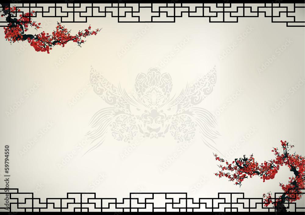 Fototapeta Chinese background