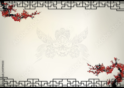 Chinese background Canvas Print
