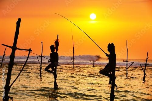 Fényképezés  Stilt fishing