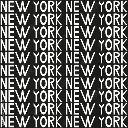 Obrazy z napisami   nowy-jork-typografii-bezszwowe-tlo-wzor-wektor