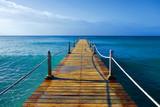 Fototapeta Most - ponton en bois dans les caraïbes