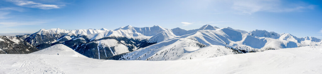 fototapeta tatry panorama z Grzesia