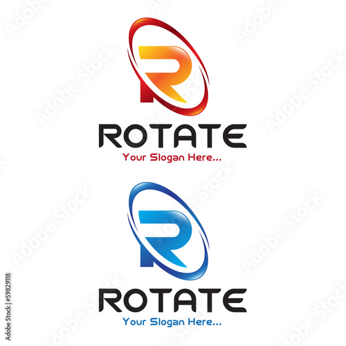 Photo  Rotate Letter R Logo