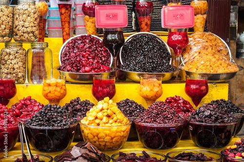 Fotografie, Obraz  Dried fruit for sale, Tehran, Iran