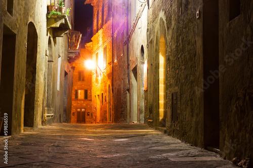Fototapeten Schmale Gasse mysterious narrow alley with lanterns