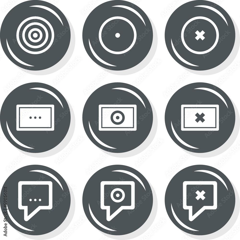 Fototapeta cel ekran oznaczenie miejsca zestaw okrągłych ikon