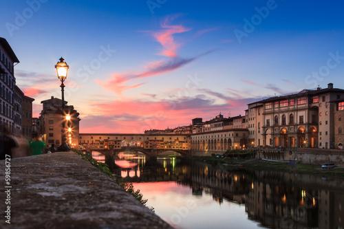 Papiers peints Florence Firenze al tramonto