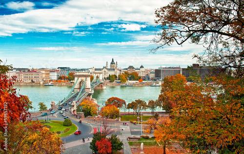 fototapeta na szkło Budapeszt jesienią