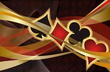 Casino Poker Banner, Vector Il...
