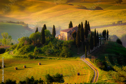 Canvas Prints Honey Tuscany, countryhouse