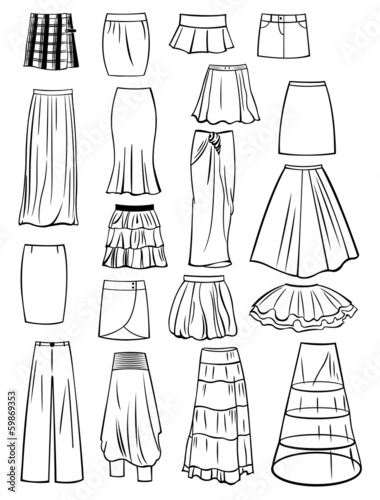 Fotografía Set of skirts