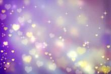 Small Hearts On Purple Backgro...