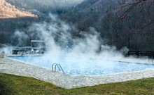 Thermal Spring With Swimming Pool In Mountain