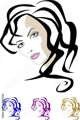 Fototapeta VECTOR GIRL obraz