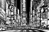 New York city at night - 59876173