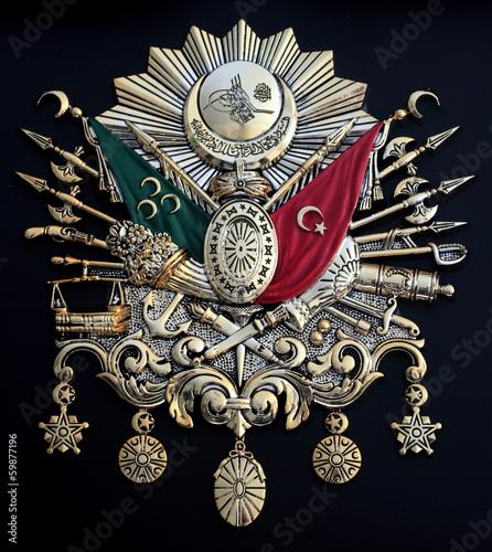 Fotografia  Ottoman Empire Emblem , ( Old Turkish Symbol )
