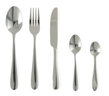 Spoon, Knife And Fork  On White