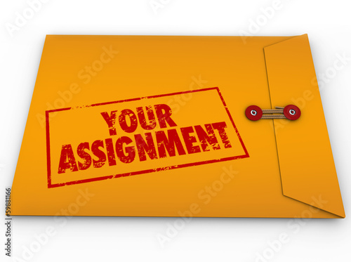 Your Assignment Task Yellow Envelope Secret Instructions Wallpaper Mural