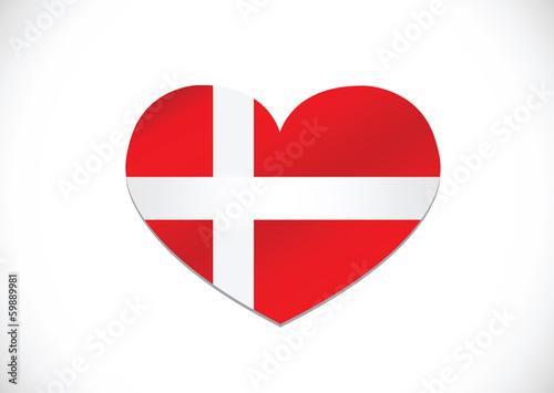 National flag of Denmark Fototapete