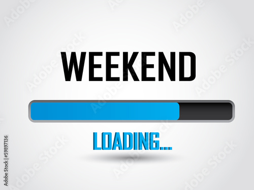 Fotomural  Weekend loading icon