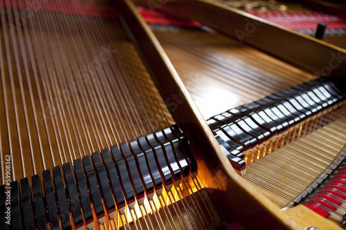 Intérieur d'un piano à queue