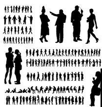 Adult People Silhouettes Colle...