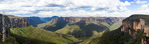 Spoed Foto op Canvas Australië Grose Valley in Blue Mountains Australia