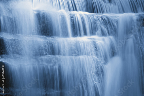 waterfall with soft water in spring - 59946796