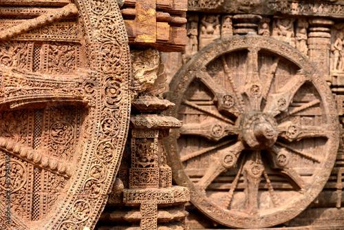 Fotografie, Obraz  Wheel of Konark sun temple