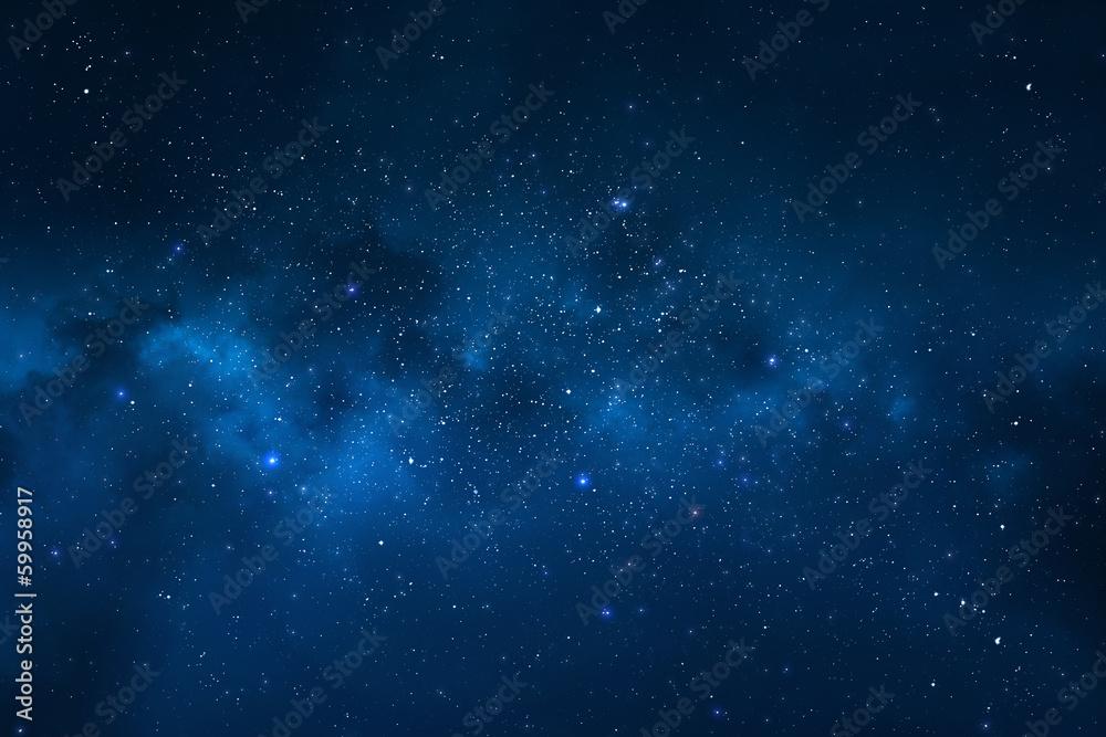 Fototapety, obrazy: Night sky - Universe filled with stars, nebula and galaxy