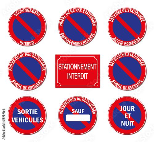 Fotografie, Obraz  Stationnement interdit.