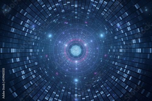 Abstrace science background - atomic particle accelerator Wallpaper Mural