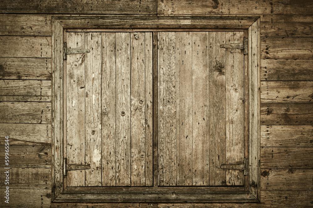 Photo  Old Wooden Window